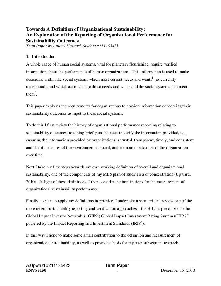 Communications term paper definition