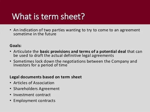 Non Binding Term Sheet Template Non Binding Indicative Offer