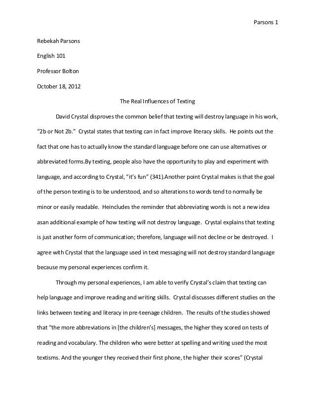 Advice to freshman essay
