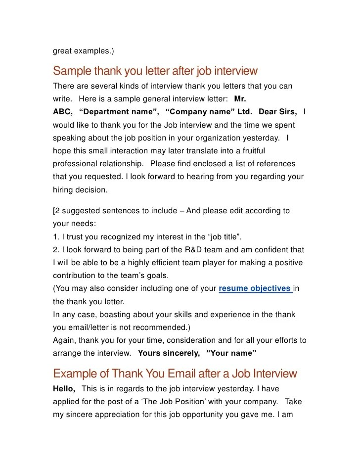 Thank You Letter Upon Job Offer | How To Write A Verbal Resume