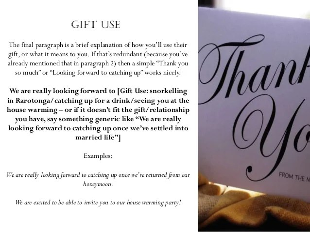 thank you notes for a gift - Josemulinohouse