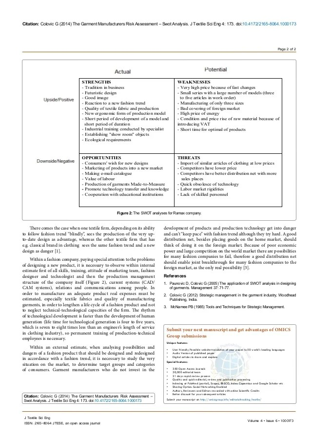 Home Ou Human Resources The Garment Manufacturers Risk Assessment Swot Analysis