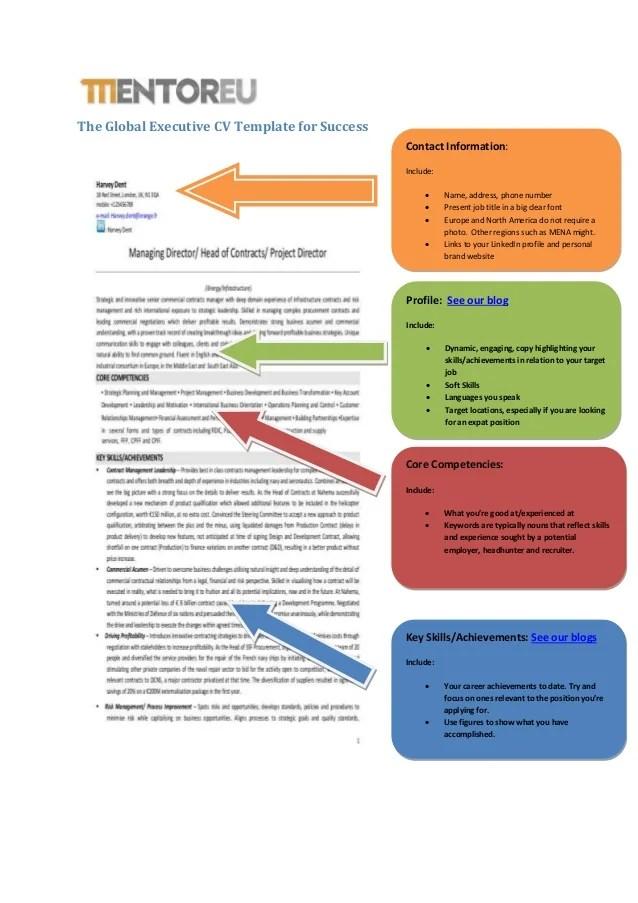 presentation cv template