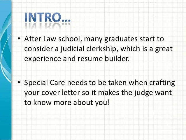 Law Clerk Career Prospective Job Seekers Cover Letter Tips