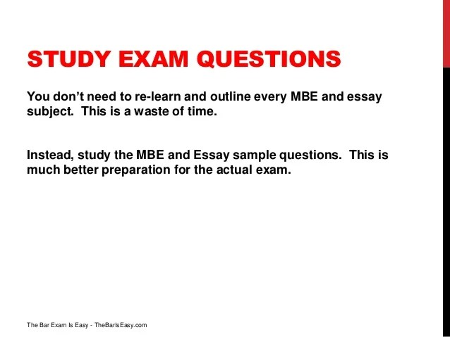 How To Pass The Bar Exam