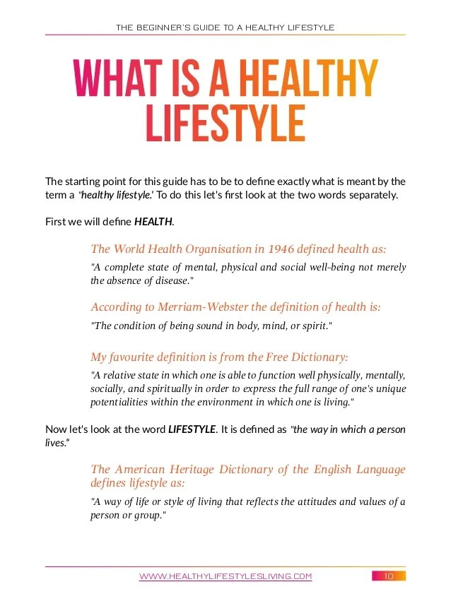 The beginner's guide to a healthy lifestyle