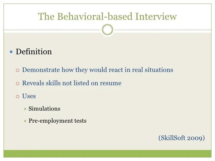 behavioural based interviews - Eczasolinf