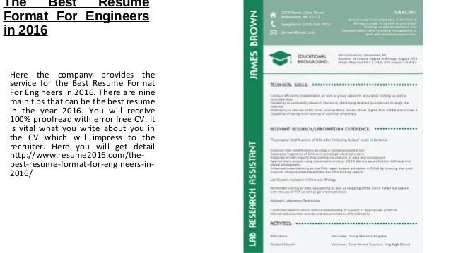 best resume format for engineers - Minimfagency