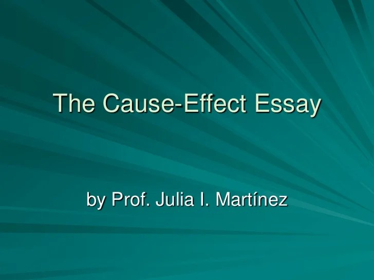 Cause And Effect Essay Topics For Kids - Cause And Effect Essay