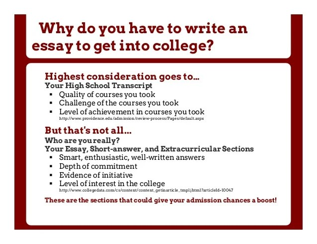 example of a college application essay