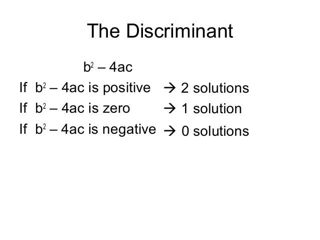 the discriminant - Baskanidai