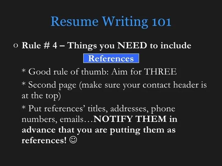 do resume references need addresses