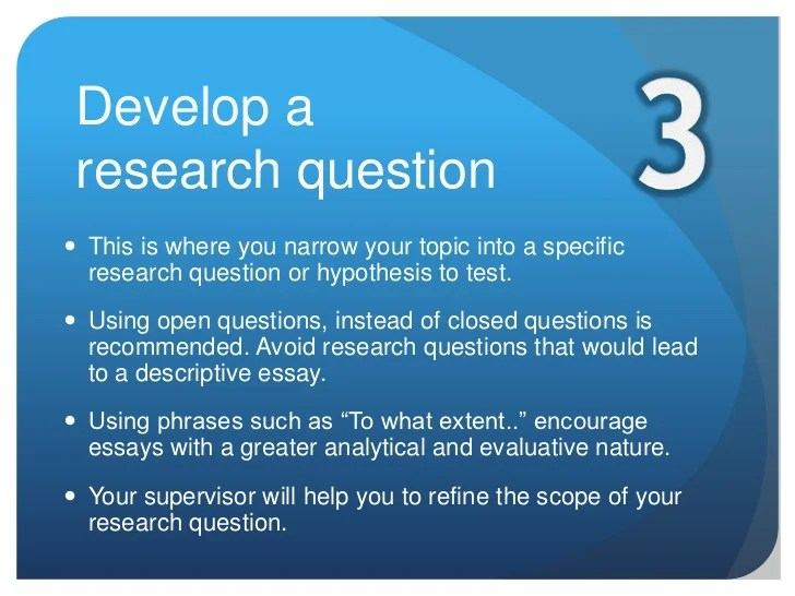 The Extended Essay Research Process