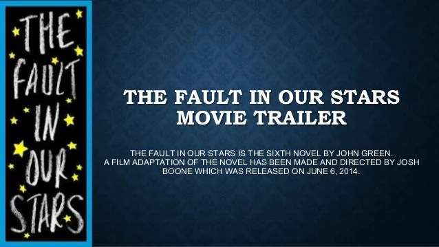 The Fault In Our Stars Trailer
