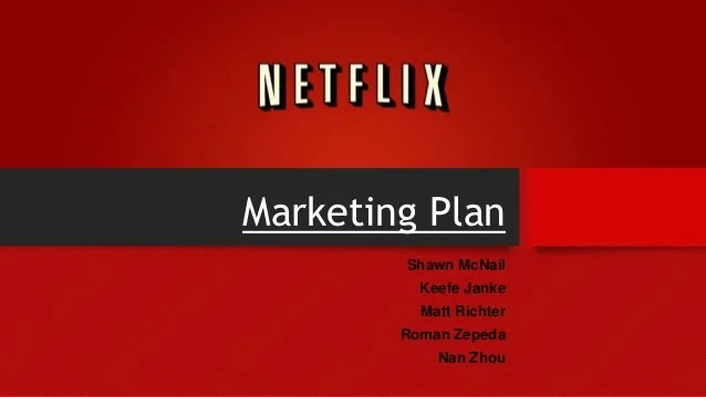 How To Use Your Business Plan Chron The Netflix Marketing Plan Power Point