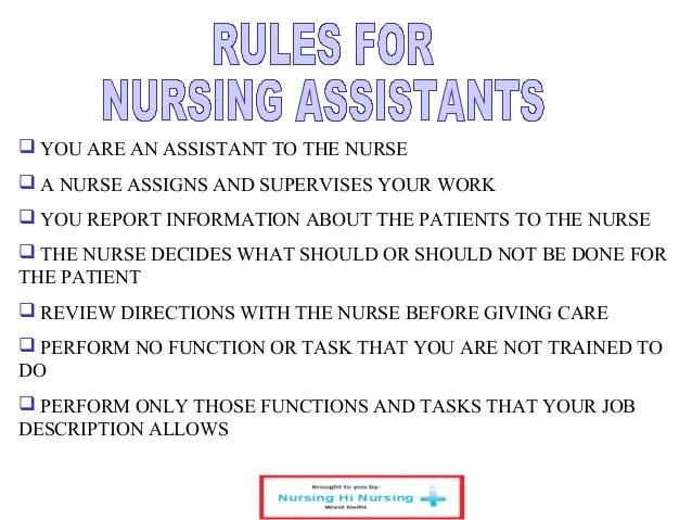 duties of a cna