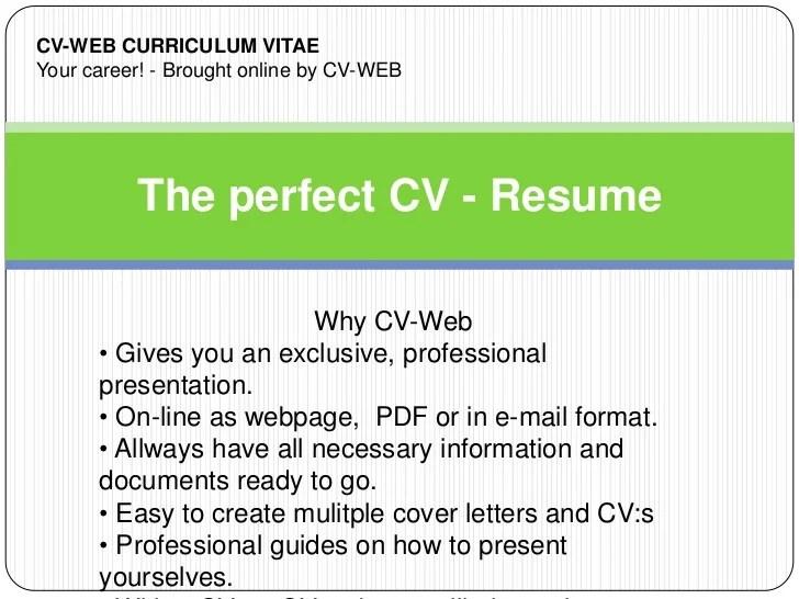 cv resume online