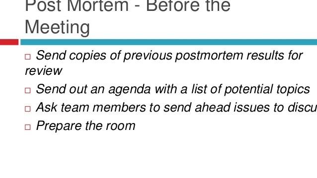 Old Fashioned Post Mortem Meeting Template Pictures - Resume Ideas