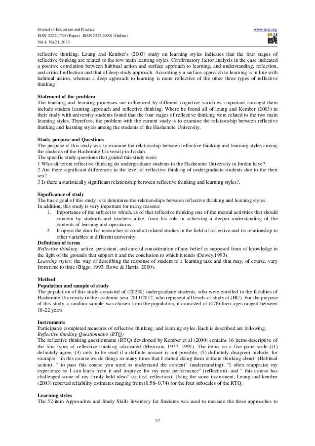 examples of reflective essays in english - Elisdlugopisyreklamowe