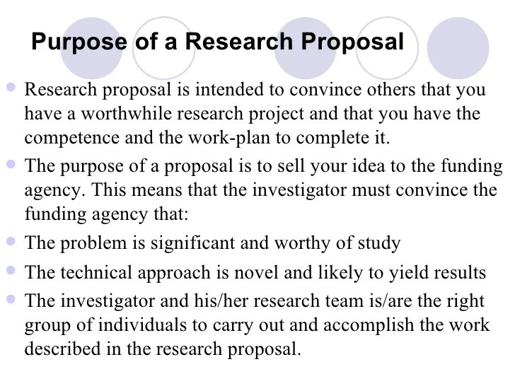 how to write a rationale for a research proposal