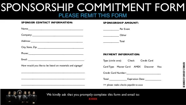 sponsorship form sample - Jolivibramusic - Blank Sponsorship Forms