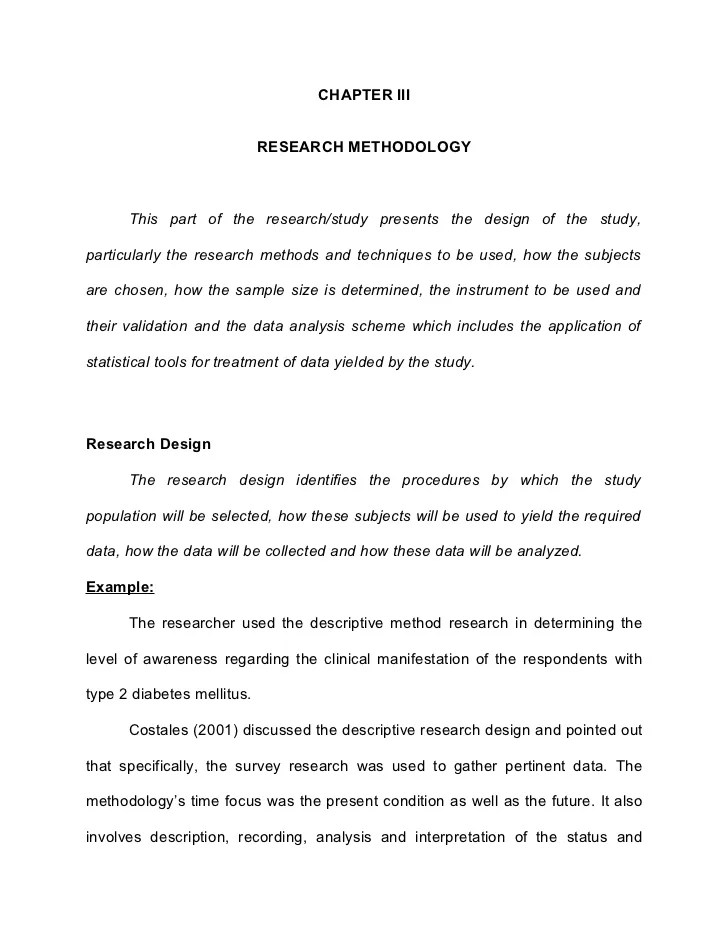 sample of research methodology in thesis writing