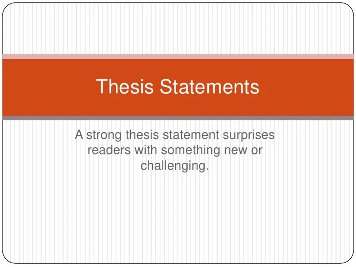 Thesis Statement On Education