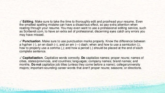 Stunning Capitalization In Resumes Photos - Simple resume Office .