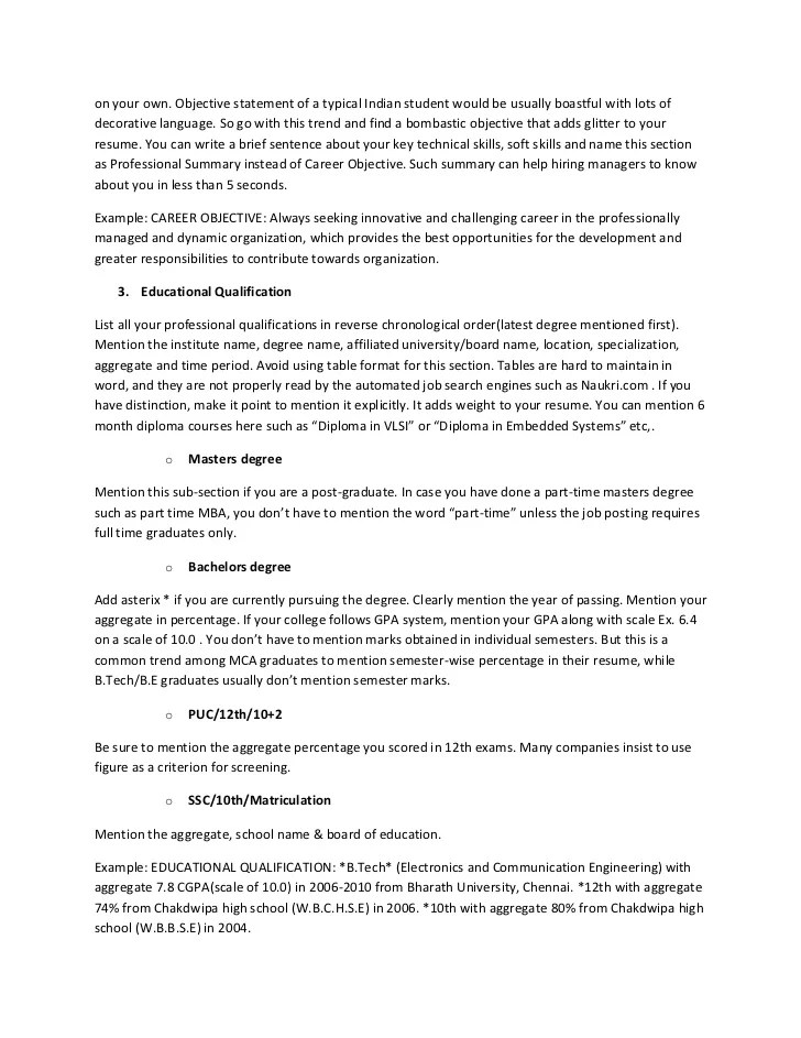 How To Write A Neat Resume 13 Steps With Pictures The Ultimate Resume Guide For Freshers