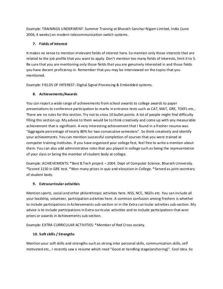 Resume For Freshers  The Ultimate Resume Guide For Freshers