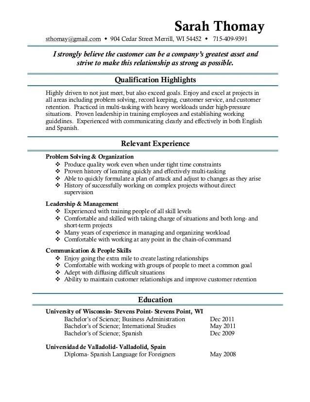 tech job resume template