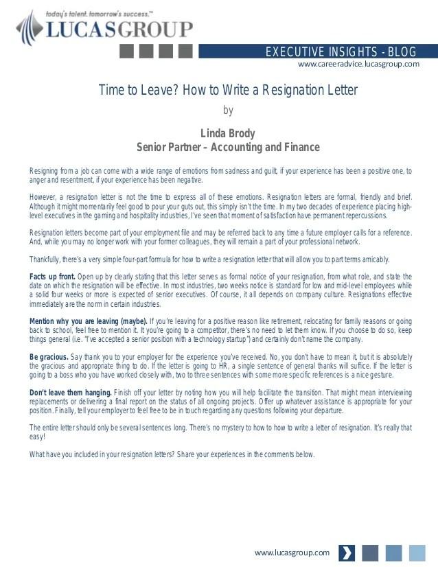 reason for leaving employment - Baskanidai - resignation letter with reason