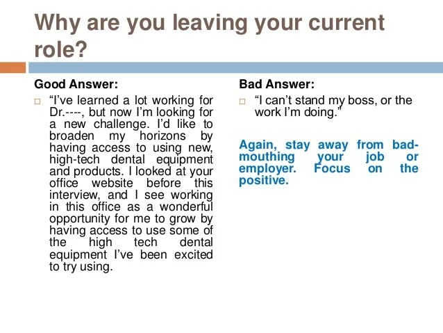 reason for leaving previous employer