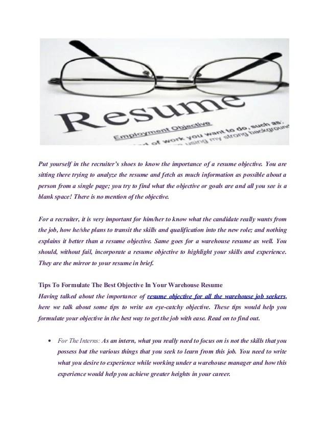 catchy resume objectives - Elisdlugopisyreklamowe