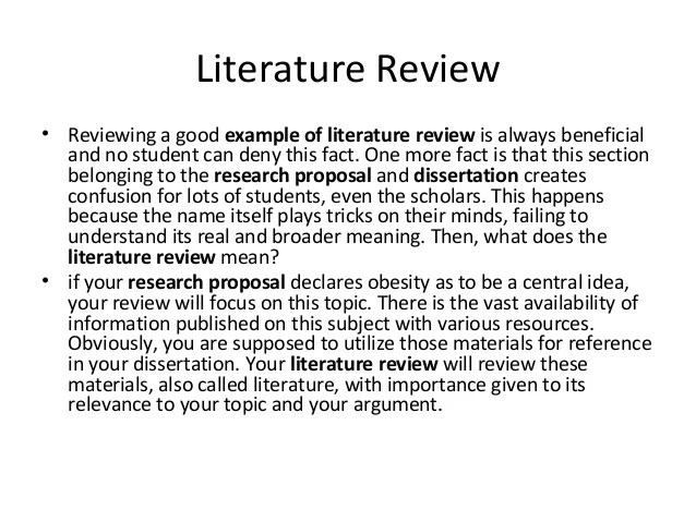 how literature review - Ozilalmanoof - literature review