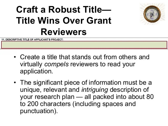 nih grant cover letters