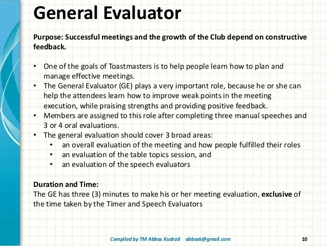 speech evaluation form - Linemartinamarkova - Meeting Evaluation Form