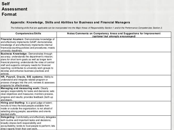 employee self assessment questionnaire - Josemulinohouse