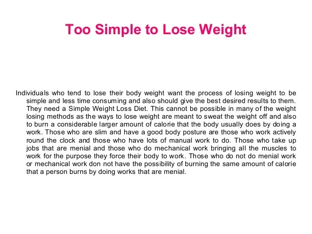 How To Lose Weight Essay Homework Academic Writing Service