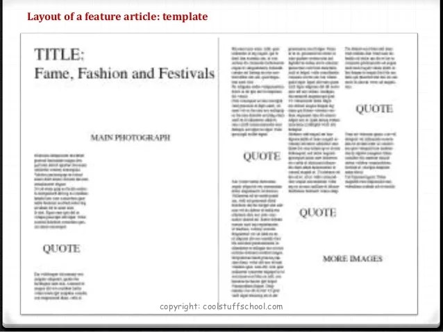 Top Tips For Quothow Toquot Write A Feature Article