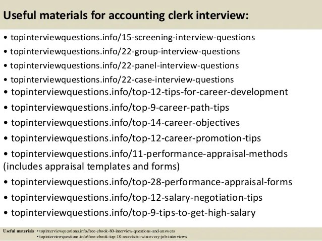 interview questions for accounting clerk - Goalgoodwinmetals