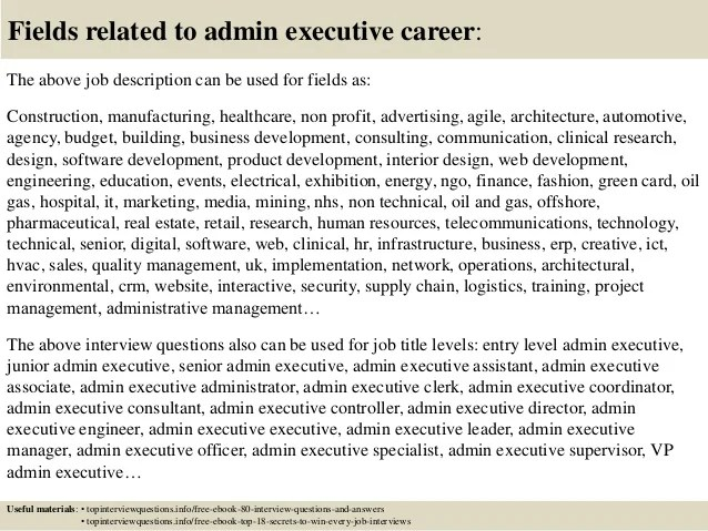 hr executive job interview questions and answers