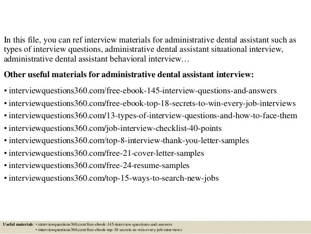 questions for dental assistant interview - Trisamoorddiner