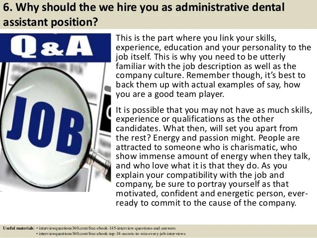 dental assistant interview - Acurlunamedia - interview questions for a dental assistant