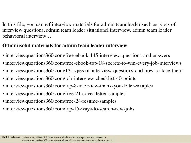 interview questions on leadership - Josemulinohouse