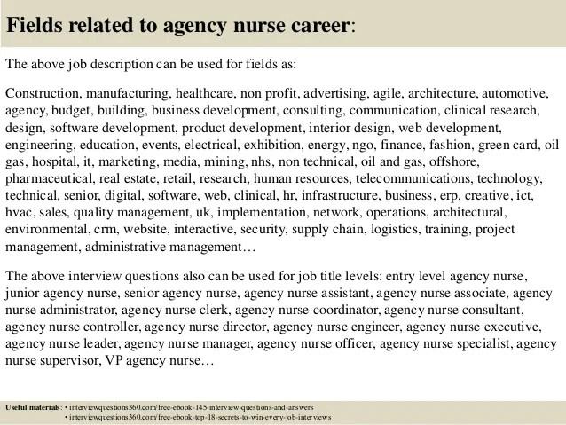 agency nurse job description -