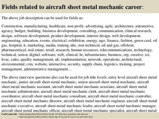 sheet metal mechanic resumes radiovkm