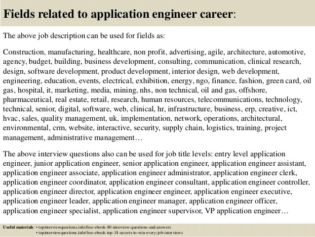 applications engineer job description - Boatjeremyeaton - application engineer job description