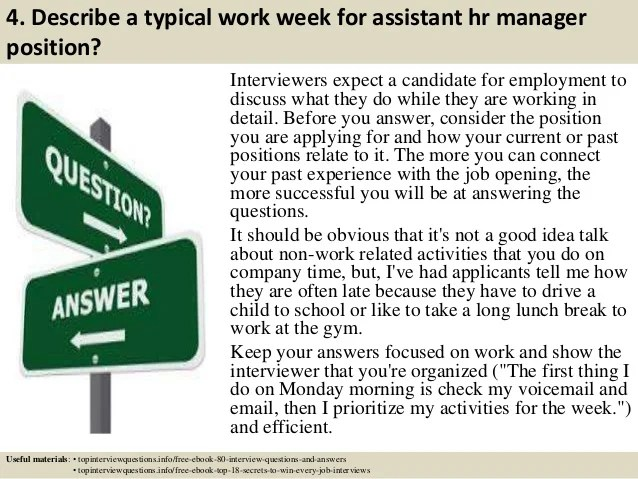 hr manager position interview questions and answers - Vatoz