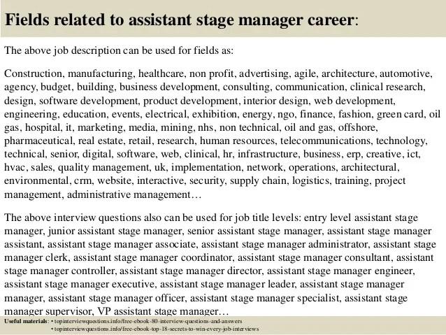 stage manager job description